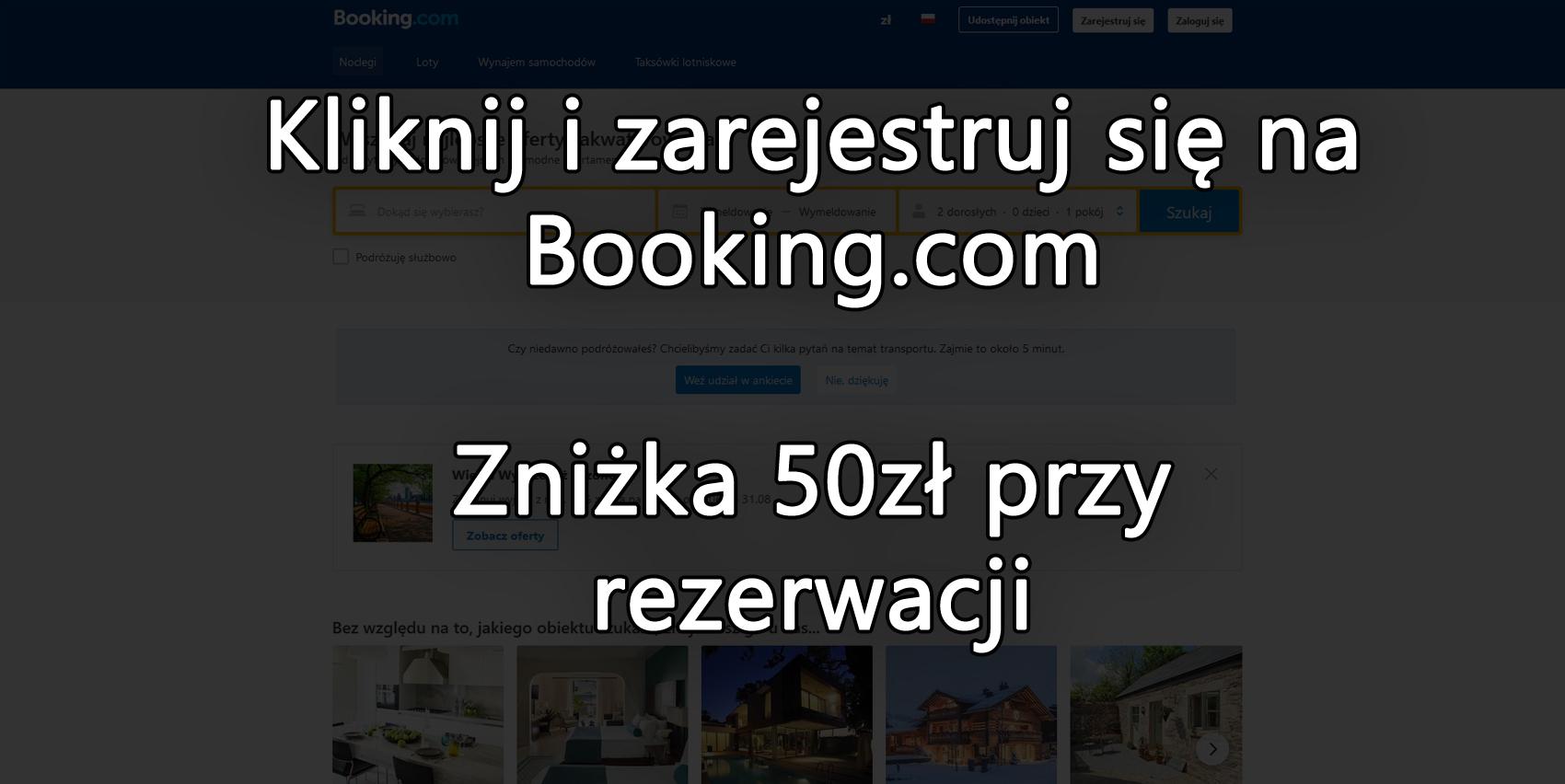 Booking - Zniżki na nocleg